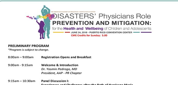 Disasters physicians role prevention and mitigation