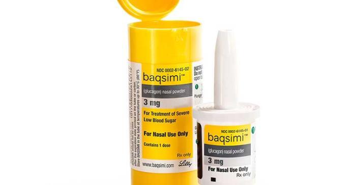 BAQSIMI,  primer y único glucagón administrado por vía nasal en el mundo