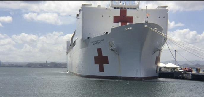 Auxilia a los nuestros el barco hospital de la Marina de Estados Unidos