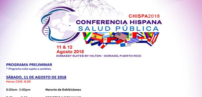 Conferencia Hispana Salud Pública CHISPA 2018