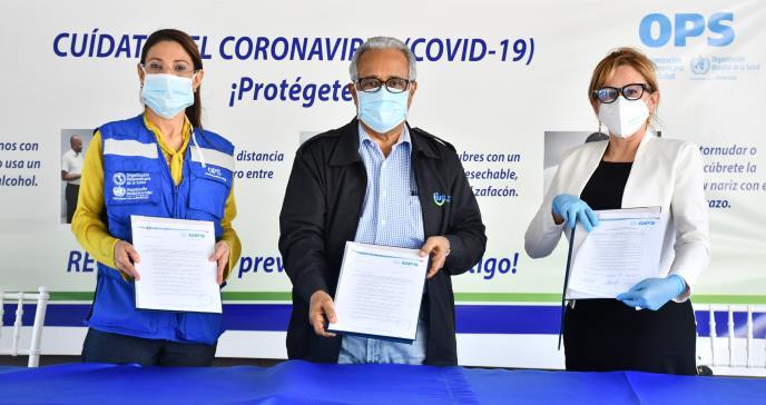 OPS dona 15 cajas de Kits de extracción al MSP para aumentar las pruebas del COVID-19 en el Laboratorio Nacional