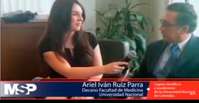 Entrevista al decano de la Facultad de Medicina de la Universidad Nacional de Colombia