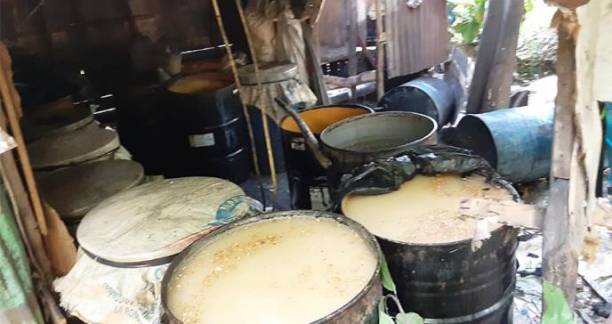Salud Pública desmantela fábricas clandestinas de producción ilegal de ron