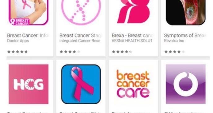 ¿Son fiables las 'apps' de cáncer de mama?