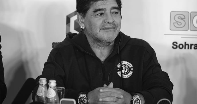 Muere el comandante de la sublime selección campeona del 86' Diego Armando Maradona