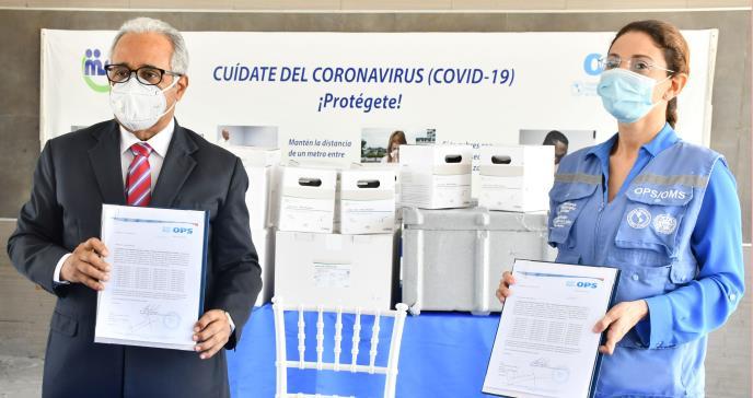Ministerio de Salud recibe seis kits para detección de COVID-19 con rendimiento de 192 pruebas por cada una.