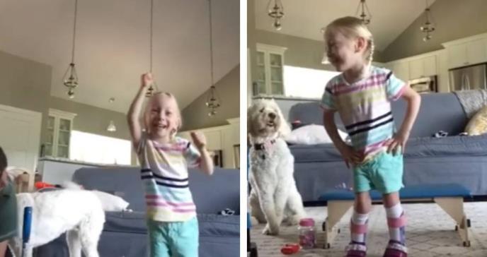 Niña de 4 años con parálisis cerebral da sus primeros pasos