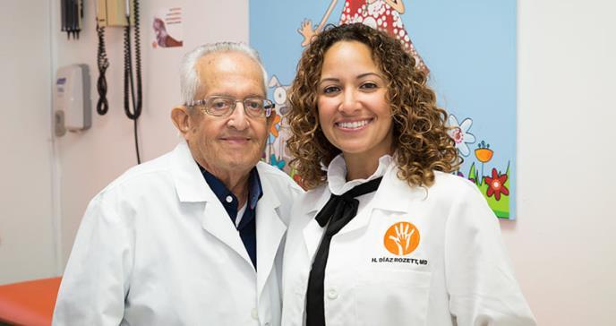 Padre e hija, unidos por la niñez puertorriqueña