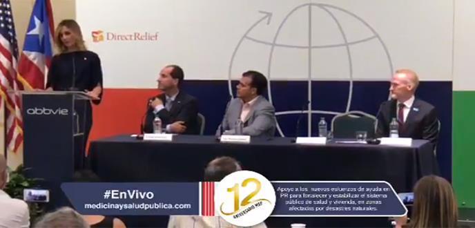 Conferencia de prensa sobre el apoyo a nuevos esfuerzos de ayuda en Puerto Rico