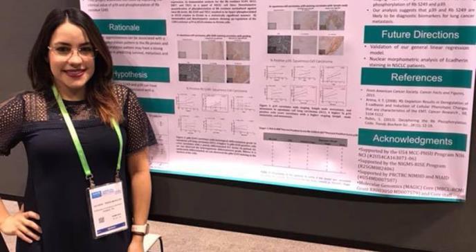 Puertorriqueña estudia tres biomarcadores para predecir cáncer de pulmón