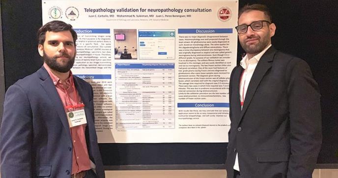 Residentes descubren método efectivo para realizar diagnósticos mediante la telepatología