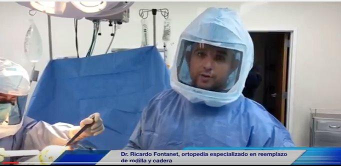 Dr. Ricardo Fontanet, ortopeda especializado en reemplazo de rodilla y cadera.