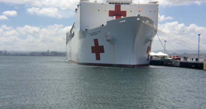 Barco hospital USNS Comfort atracará en el sur y oeste de Puerto Rico