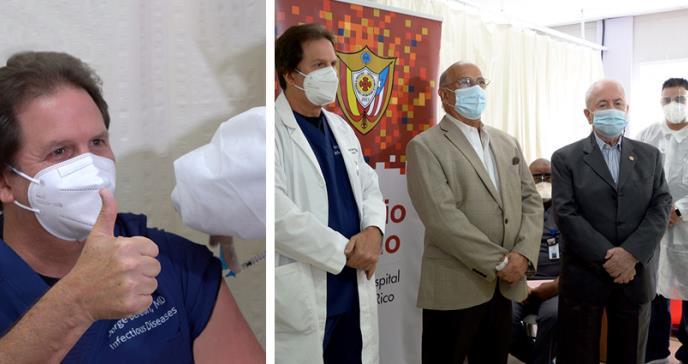 510 profesionales de la salud del Hospital Auxilio Mutuo fueron vacunados contra COVID-19