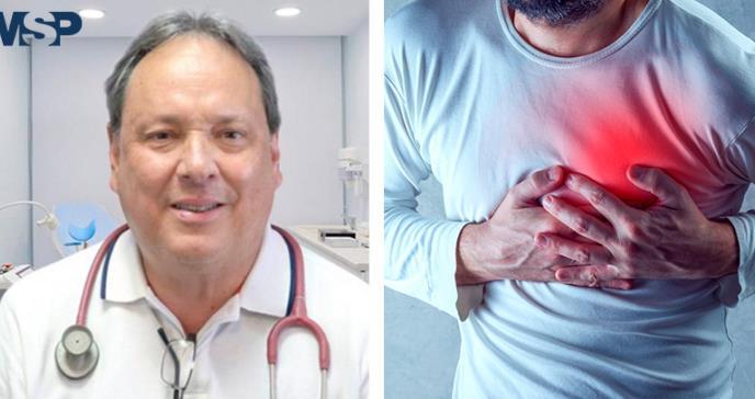 Cardiólogo afirma que cualquier molestia por encima del ombligo puede ser alerta de infarto