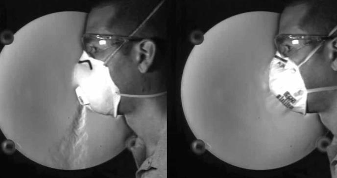 La prueba de por qué no debemos utilizar mascarillas con válvula