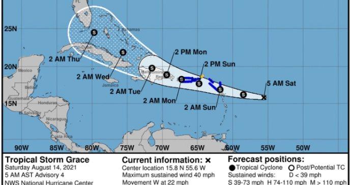 Aviso de tormenta tropical para la Isla, Vieques y Culebra