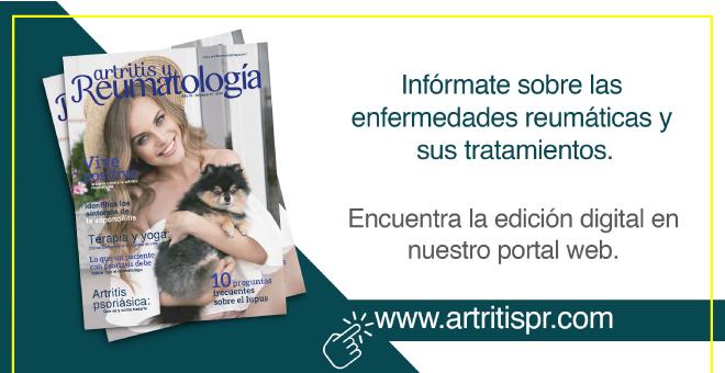 Visite el sitio web de la revista artritis y reumatología y esté informado sobre la actualidad sobre esta condición, recomendaciones, procedimientos y tratamientos.