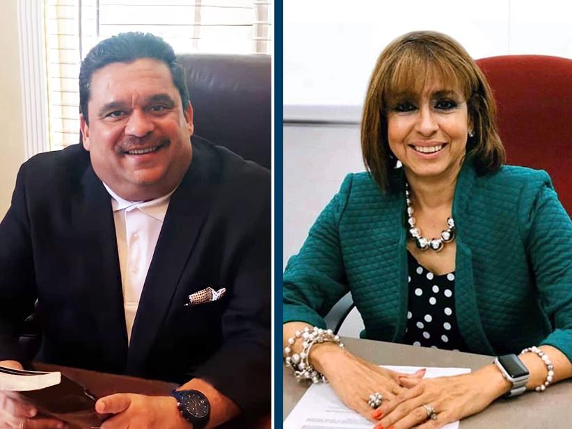 Obispo Angel Angel Marcial, ejecutivo continental de la Iglesia de Dios en Puerto Rico y Wanda Ayala presidenta de cual Asociación de la Educación Privada de Puerto Rico.