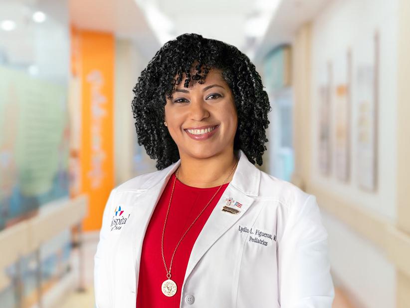 Doctora Lidya Figueroa, residente del Hospital de San Juan en el Departamento de Pediatría.