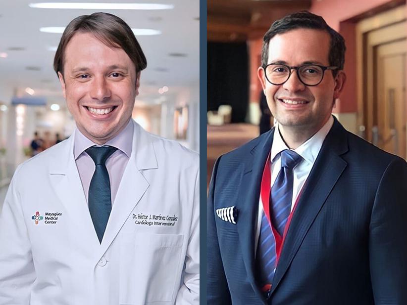 Doctor Héctor Martínez, cardiólogo intervencional y el Doctor Hilton Franqui, electrofisiólogo.