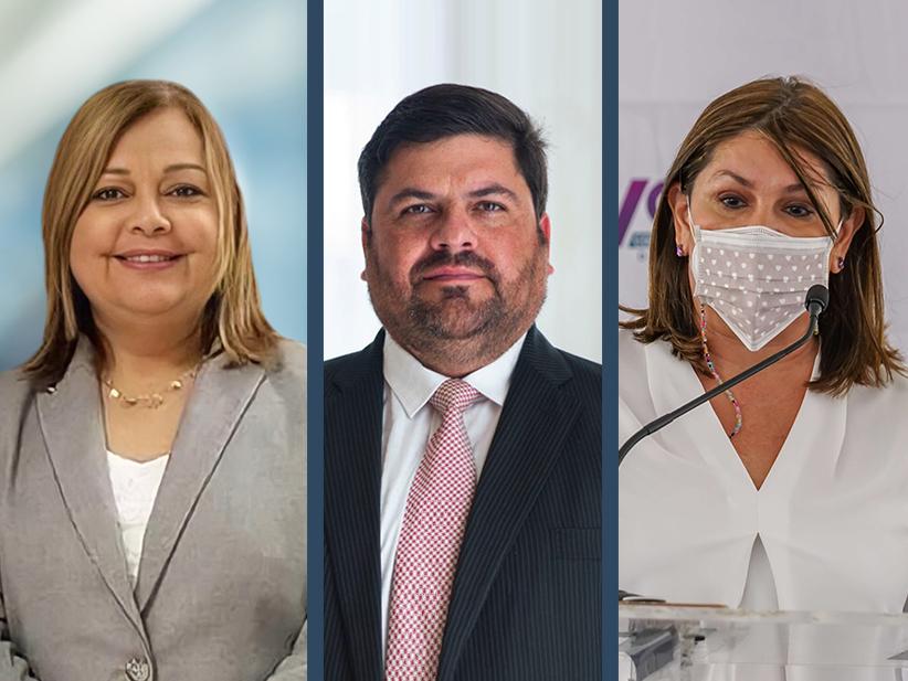 Ana Escobar, Secretaria de Corrección, Carlos Mellado Secretario del Departamento de Salud, Iris Cardona Directora del Programa de Vacunación.