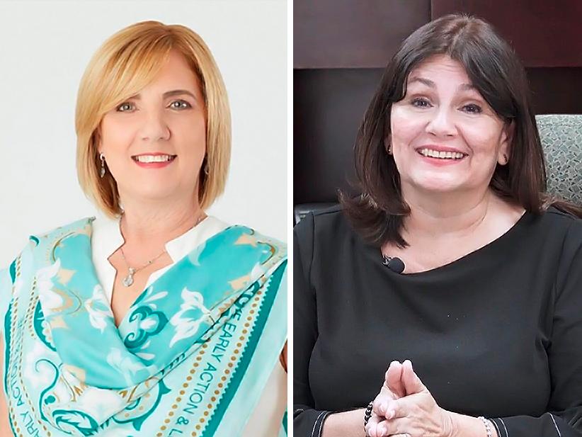 Iris Cardona, directora del Programa de Vacunación de Puerto Rico y Lilliam Rodríguez, directora del proyecto VOCES.